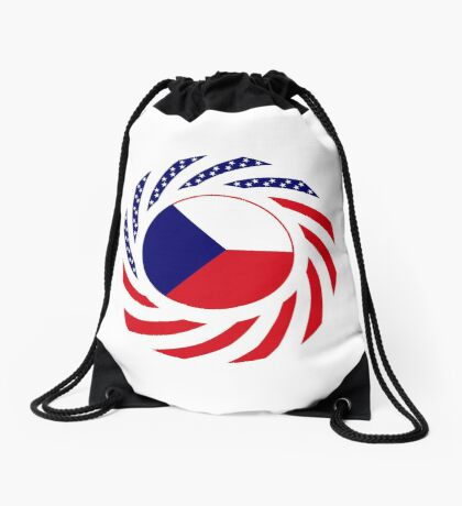 Czech American Multinational Patriot Flag Series Drawstring Bag
