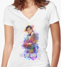 Dr. Who Tee Steampunk Character T-Shirt / Hoodie Women's Fitted V-Neck T-Shirt