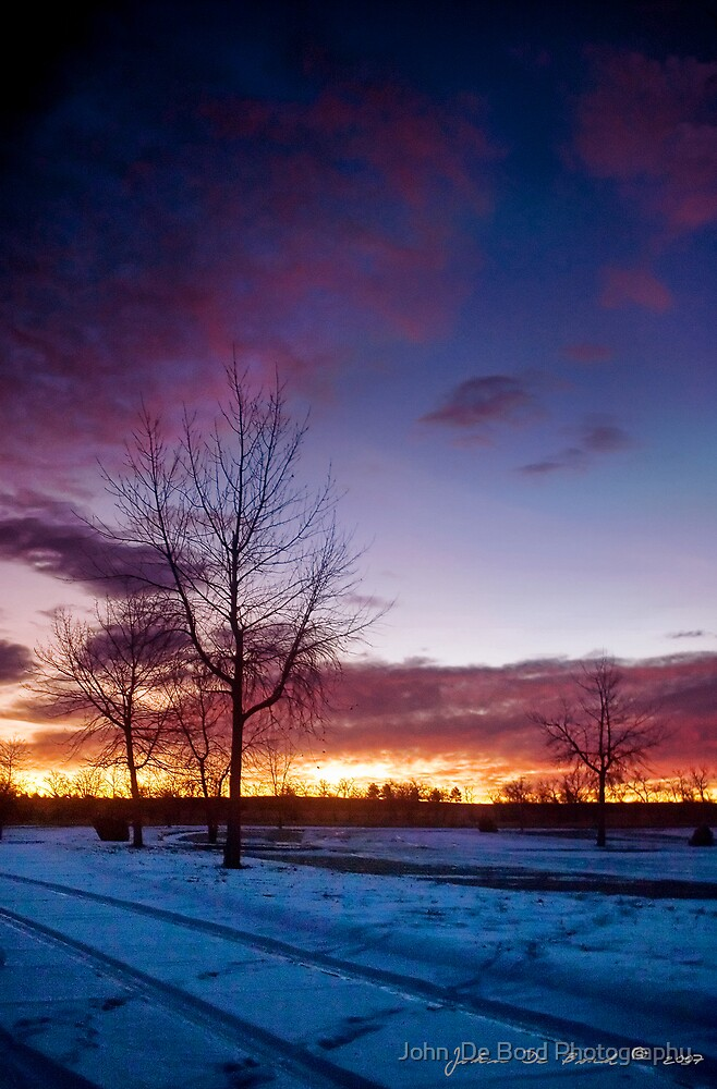 A Winter Sunrise by John  De Bord Photography