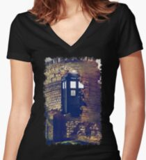 Call Box Geek T-Shirt / Hoodie Women's Fitted V-Neck T-Shirt
