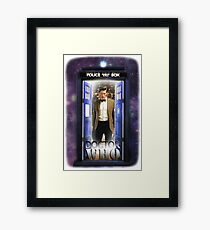 Ninth Doctor Blue Box T-Shirt / Hoodie Framed Print