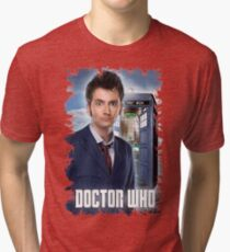 Nerdy Dr Who T-Shirt / Hoodie Tri-blend T-Shirt