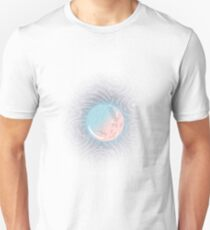 Pink Blue Moon Glow Galaxy Unisex T-Shirt