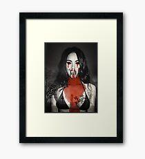 Megan Fox 666 Framed Print