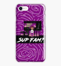 SUP FAM? Purple Spiral Swirls iPhone Case/Skin
