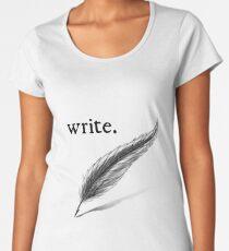 write (quill) Women's Premium T-Shirt