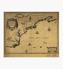 Nova Anglia (New England), Novvm Belgivm et Virginia (1642) Photographic Print
