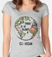 There is No Planet B - Go Vegan Women's Fitted Scoop T-Shirt
