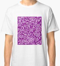 Spiral Swirls Purple Glow Classic T-Shirt