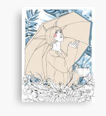Girl's Diary Collection - Rain Canvas Print