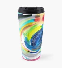 Colorful Watercolor Abstract Painting Travel Mug