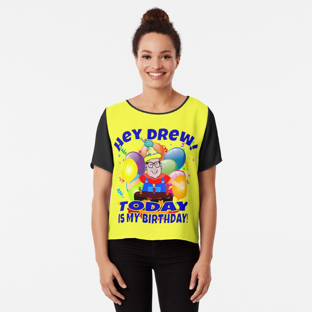 TV Game Show - TPIR (The Price Is...)It's My Birthday Women's Chiffon Top Front