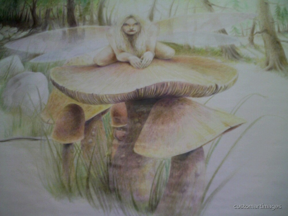 Fairy on Shroom by customartimages