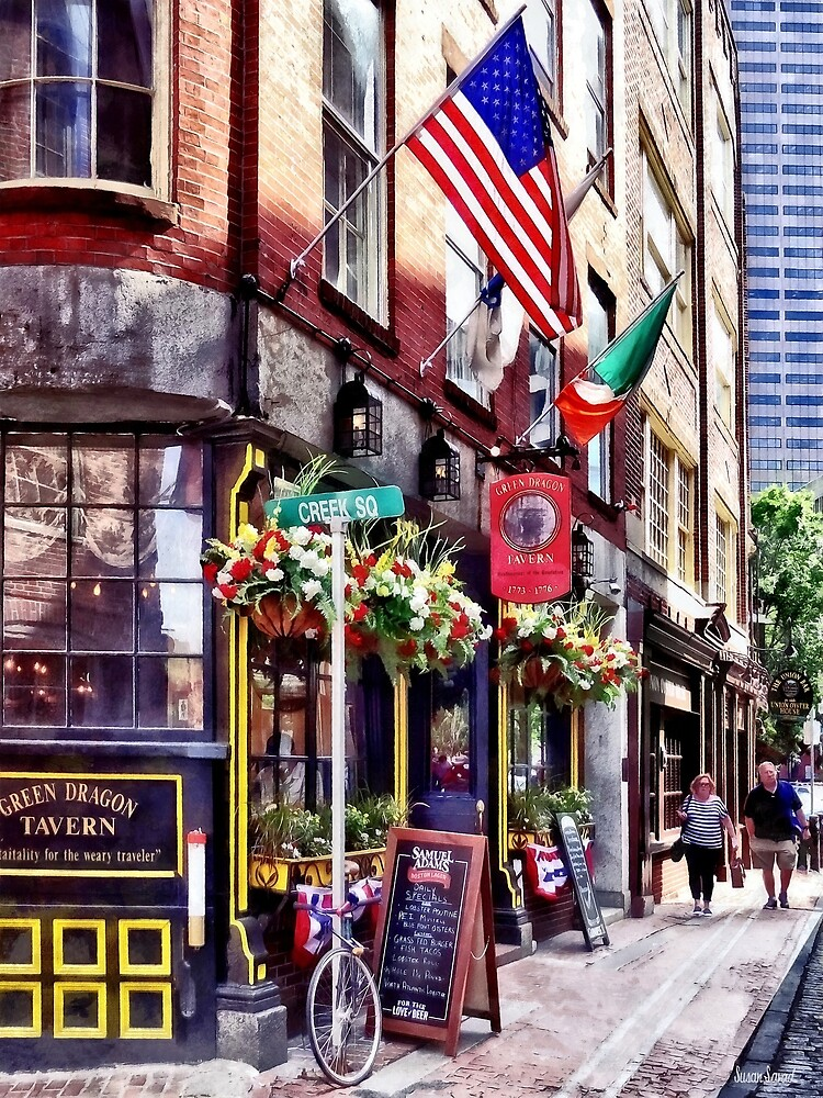 Boston MA - Restaurants on Creek Square by Susan Savad