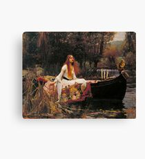 Lienzo La dama de Shallot - John William Waterhouse