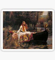 The Lady of Shallot - John William Waterhouse  Sticker