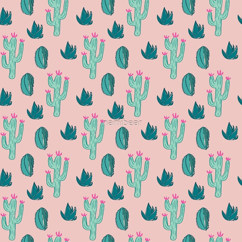 Cute Cactus Pattern by namibear