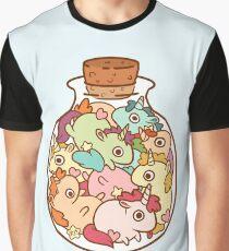 Flasche Einhörner Grafik T-Shirt
