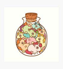 Flasche Einhörner Kunstdruck