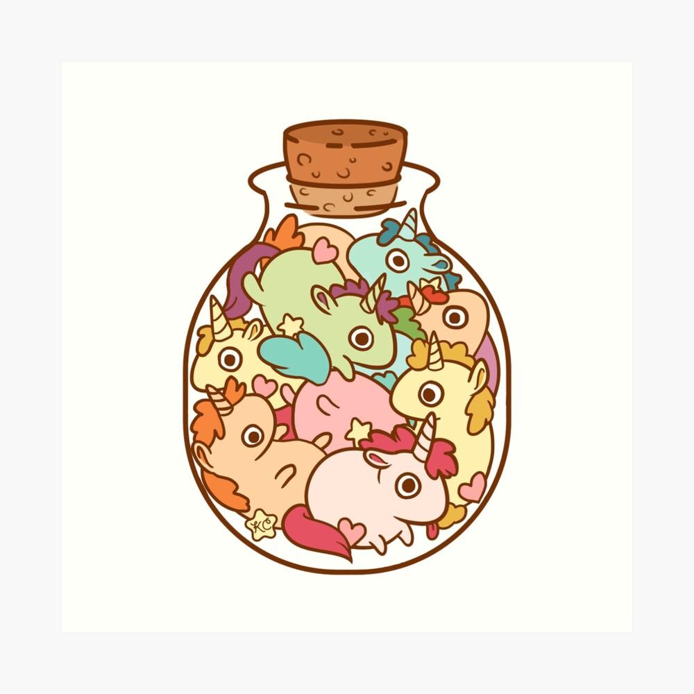Bottle of Unicorns Art Print
