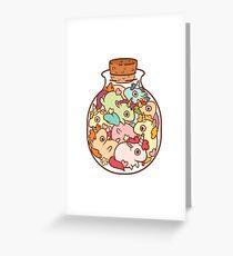 Bouteille de licornes Carte de vœux
