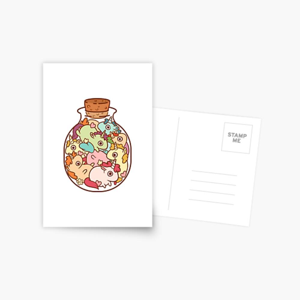 Bottle of Unicorns Postcard