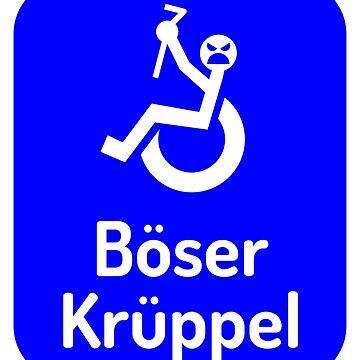 Böser Krüppel - Dunkelblau by lhabc