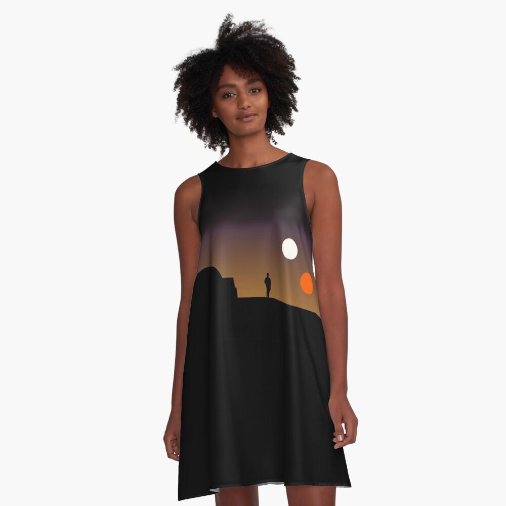 Der doppelte Sonnenuntergang ... A-Linien Kleid Vorne