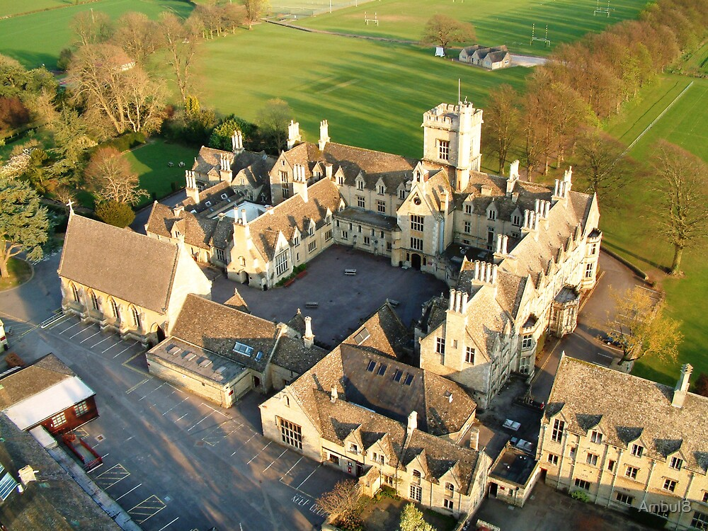 Royal Agricultural college from 200 ft by Ambul8