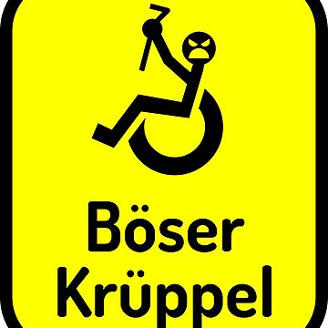 Böser Krüppel - Gelb by lhabc