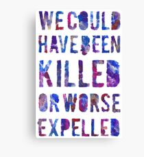 OR WORSE (painted) Canvas Print