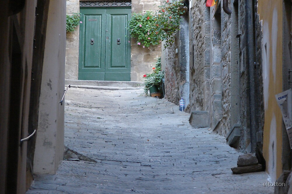 Street to a Door in Tuscany by eltotton
