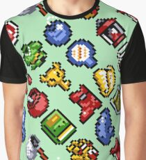 Legend of Zelda A Link to the Past / items 3 / pattern / light green rock Graphic T-Shirt