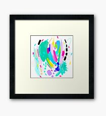 Abstract Painting in Fun Colors Framed Print