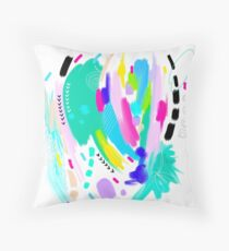 Abstract Painting in Fun Colors Throw Pillow