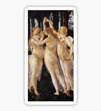 Pegatina La Primavera - Las tres gracias - Sandro Botticelli