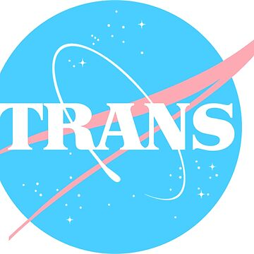 Nasa Trans Pride Logo - Flag Colors by chalicevvinter