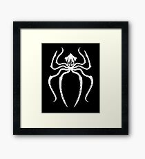 Navy: Spider-Man Squid White Framed Print