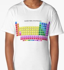 Shiny Periodic Table of the Chemical Elements Long T-Shirt