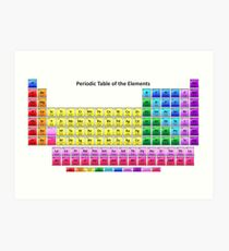 Shiny Periodic Table of the Chemical Elements Art Print