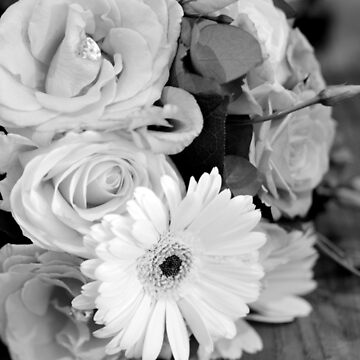 Floral Bouquet, Black and White Photography by SarahHellyer