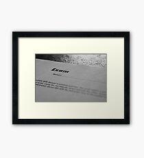 Exam Framed Print