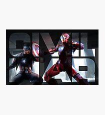 Steve vs Tony Photographic Print