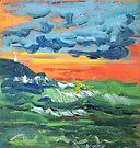 Evening Sea Storm by Virginia McGowan