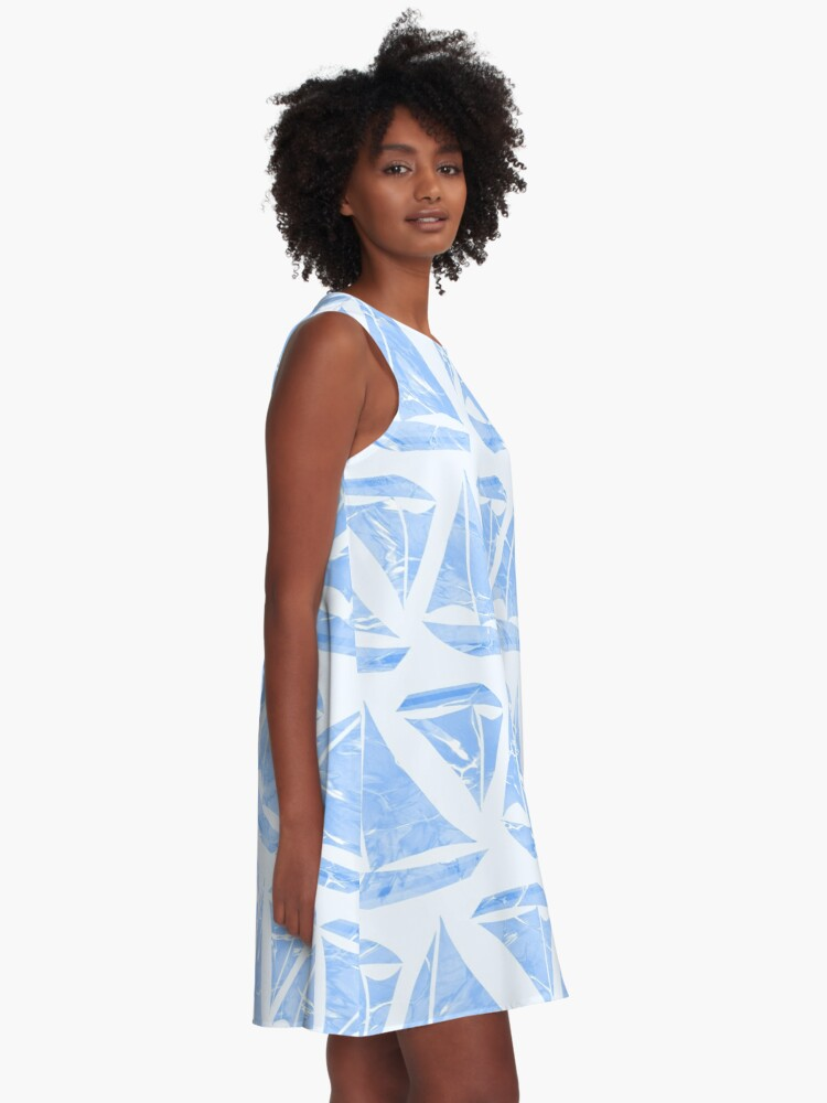 Alternate view of  Blue Sailing Boats Water Pattern A-Line Dress