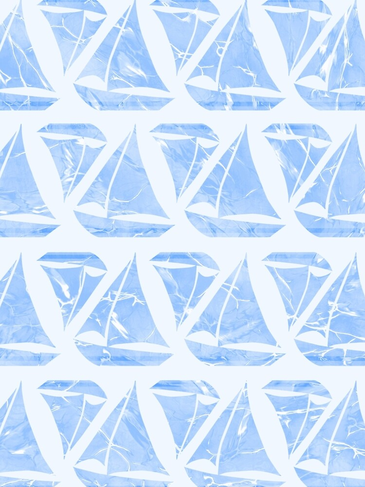 Blue Sailing Boats Water Pattern by oursunnycdays