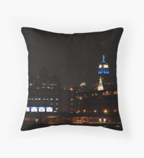 Empire State lit-up for Hanukah Throw Pillow