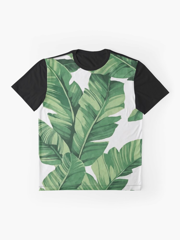 Alternate view of Tropical banana leaves Graphic T-Shirt