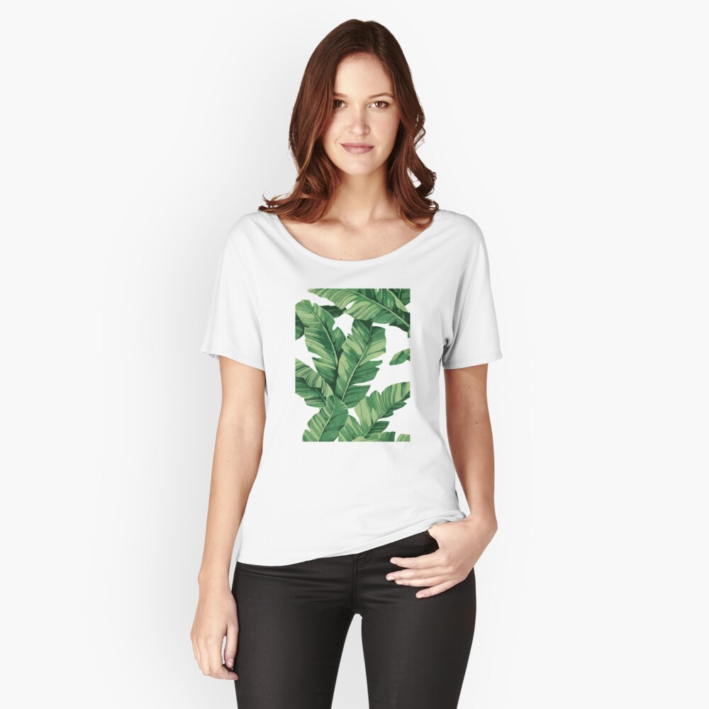 Tropical banana leaves Relaxed Fit T-Shirt