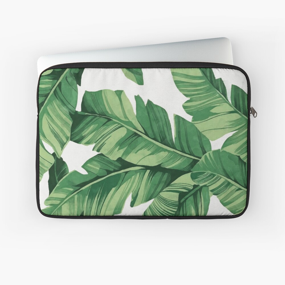 Tropical banana leaves Laptop Sleeve